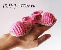 PDF Crochet PATTERN  Open Toe Baby Sandals by AimarroPatterns