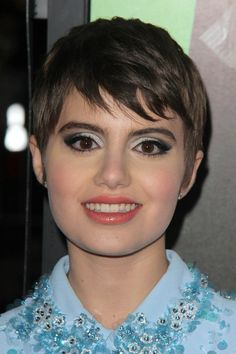 pixie with jagged bangs