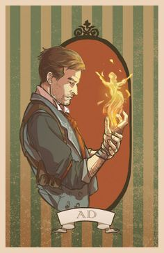 Booker DeWitt, 'Hellfire' style. Like  fire, hellfire, this fire in my skin... #bioshock #infinite