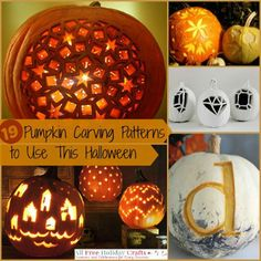 19 Pumpkin Carving Patterns: Free to Use This Halloween | AllFreeHolidayCrafts.com