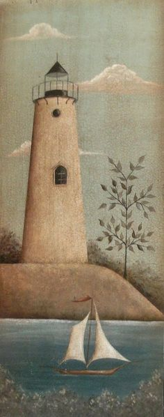 #Lighthouse Print by Donna Atkins. by folkartbydonna   -   http://dennisharper.lnf.com/