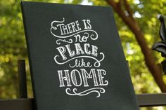 There's No Place Like Home Embroidered Art