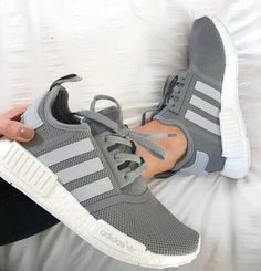 newest 4dcd5 559d3 kyra ☾ Ig  Kyrapg Adidas Grey Shoes, Adidas Walking Shoes, Grey Adidas Nmd