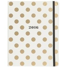 Kate Spade Polka Dot Agenda 2016 ($35) ❤ liked on Polyvore featuring home, home decor and stationery