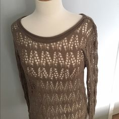 Lighweight Tan Sweater Beautiful sweater, great for layering Sweet Romeo Sweaters Crew & Scoop Necks