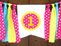 You Are My Sunshine Birthday Banner Highchair by SeacliffeCottage
