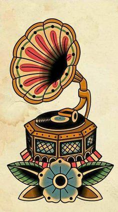 Tattoo Old School Music Beautiful Ideas For 2019 - Tattoo Old School Music S . - Tattoo old school music beautiful ideas for 2019 – tattoo old school music beautiful idea - Music Symbol Tattoo, Music Tattoos, Body Art Tattoos, Leg Tattoos, Tattoo Symbols, Compass Tattoo, Arm Tattoo, Sleeve Tattoos, Tattoo Ink