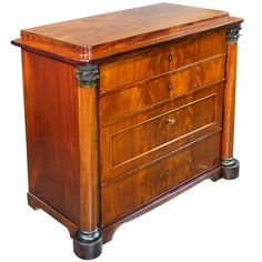 Early 19th Century Danish Biedermeier Commode Chest of Drawers | From a unique collection of antique and modern commodes and chests of drawers at https://www.1stdibs.com/furniture/storage-case-pieces/commodes-chests-of-drawers/