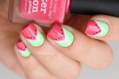 Pastèque nails - Mary Monkett