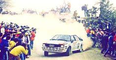 Italy 1983 Stig Blomqvist.  #wrc #wrcofficial #rally #rallye #audi #audiquattro #groupbrally #quattro #4wd #turbo #fans #worldrallychampionship #worldrally #rallyfans