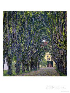 Tree-Lined Road Leading to the Manor House at Kammer, Upper Austria, 1912 Giclee Print