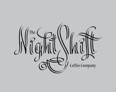 The Night Shift Coffee Company Logo - Creates an interesting feel and very…