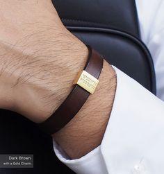 Personalized Leather Bracelet / Coordinates Bracelet for Men / Mens Bracelet / Silver Bracelet for Men / Mens Gift - C21