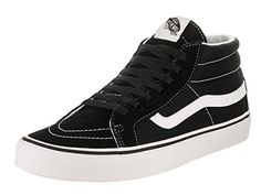 Vans Unisex Sk8Mid Reissue B BlackTrue White Skate Shoe 95 Men US  11 Women US >>> Read more at the image link. (This is an affiliate link) #WomensSkateboardingFootwear