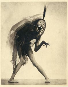 ART STUDIES FROM WEST OF ZANZIBAR, 1928 BY WILLIAM MORTENSEN. Mortensen worked closely with Lon Chaney and created the masks used by him during production and seen here.