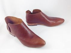 The Terilyn COT Lower Heel ~ Handmade to Order~ LIMITED EDITION Chestnut Brown Oil Tan Leather ankle boot~ petite thru large ~ Vintage Look by SevillaSmith on Etsy https://www.etsy.com/listing/219110606/the-terilyn-cot-lower-heel-handmade-to