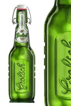 Grolsch beer 3d model by Degra Studio, via Behance