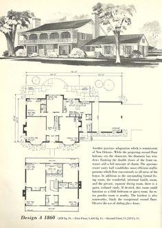 Vintage house plans, mid century homes, split level homes Vintage House Plans, Modern House Plans, House Floor Plans, Vintage Homes, The Plan, How To Plan, Br House, Sims House, Cottage House