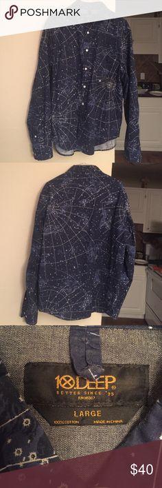 10 Deep The Newton buttondown shirt in Navy 10.Deep constellation zodiac button down 10.Deep Shirts Casual Button Down Shirts