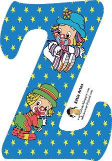 EUGENIA - KATIA ARTES - BLOG DE LETRAS PERSONALIZADAS E ALGUMAS COISINHAS: Letras e Números Patati e Patata Clown Party, Send In The Clowns, Cute Letters, Balloon Decorations Party, Creative Lettering, Alphabet And Numbers, Alphabet Letters, Circus Theme, Pattern Images