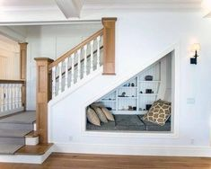 Small space staircase view in gallery under stairs ideas hallway decorating storage for small spaces staircase . Under Basement Stairs, Cabinet Under Stairs, Under Stairs Nook, Basement Staircase, Staircase Storage, Stair Storage, House Stairs, Staircase Design, Stair Design