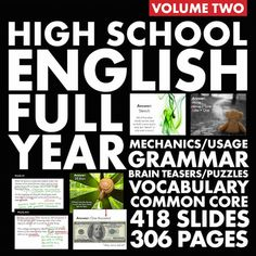 Bell Ringers – H.S. English Vol. 2 – Vocab, Grammar & Logic Puzzle/Brain Teasers
