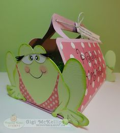 The Cricut Bug: Frog Birthday Basket