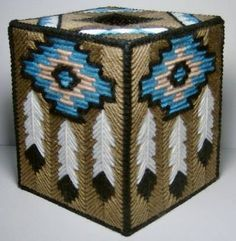 Feather Tissue Box Cover