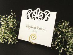 100 Personalized Flourish Edge Flat / Wedding by JoBunch on Etsy