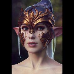 regram @autodesk_me Female elf portrait by Dmitry Cheremisin /via CG Society. #elf #portrait #art #3d #artist