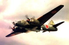 """Mitsubishi Betty Bomber Versatile Japanese Bomber Introduced to the Japanese arsenal in 1941, the Mitsubishi G4M, codenamed """"Betty"""" by the Allies, possessed above average speed and range, making it a potent weapon as a land based naval bomber"""