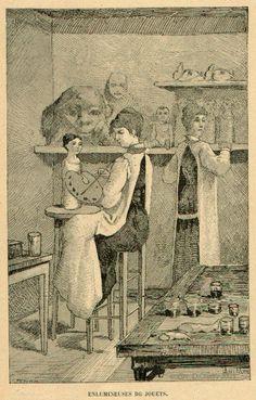 Enlumineur de Jouets : Ouvrier peignant les jouets, et en particulier les poupées, pour leur donner l'aspect du réel.