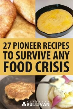 It makes sense to perfect pioneer recipes before you really need them. The pioneers learned how to make a little go a long way, what type of food lasted well, and how to combine their precious…More Frugal Meals, Cheap Meals, Easy Meals, Camping Meals, Low Budget Meals, Pioneer Foods, Depression Era Recipes, Emergency Food, Emergency Preparedness