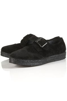 MONKS Suede Chunky Monk Shoes - StyleSays