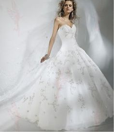 Custom White/Ivory Sweetheart Lace Bridal Gown wedding dress Size6 8 10 12 14 16