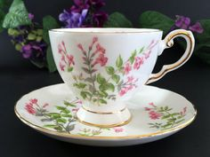 Tuscan Tea Cup Teacup and Saucer Vintage by TheVintageTeacup