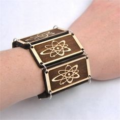 All you have to do is laser cut 6 tiles and you can make this simple, but fun, bracelet.