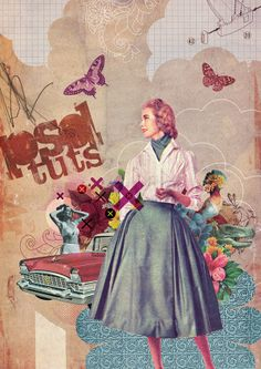 Recycle Vintage Images to Create a Photoshop Collage #photoshop #collage