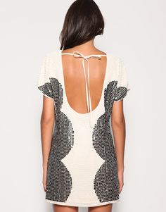 ASOS Oversized sequin shift dress. Sequins, cool shapes and low back...good, trendy dress for this summer.
