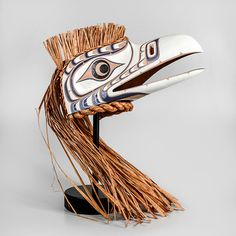 White Raven Mask   Bert Smith   Northwest Coast