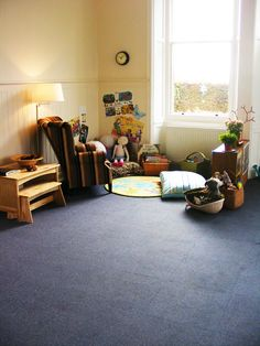 Reading Area of The Orchard Nature Nursery in Dumfries, Scotland.