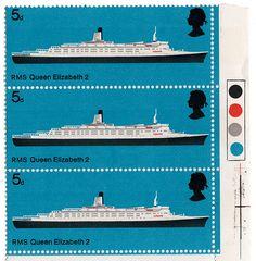 qe2 postage stamps, via Flickr.