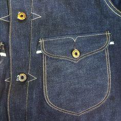 Selvedge pride run amok (nice pocket shapes, though! Denim Display, Denim Art, Mode Jeans, Raw Denim, Designer Clothes For Men, Pocket Detail, Vintage Denim, Couture, Denim Fashion