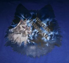 Weylyn Tamaskan creation made on shirt The tamaskan dogs are my own Avak and Sierra
