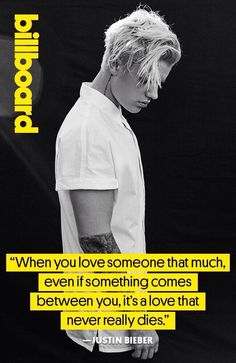 Justin Bieber in the November edition of Billboard Magazine