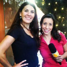 Malu Abib e Sabrina Pires. TV Gazeta. Jornal da Gazeta, em gravação no cliente Ecully Gastronomia.