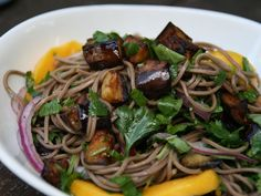 NPR.org/*** Soba Noodles with Eggplant and Mango