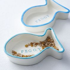 Personalised Ceramic Cat Bowl