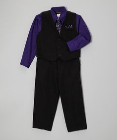 Growing Up Purple Four-piece Vest Set - Infant, Toddler & Boys