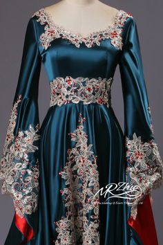 Real Sample 2015 Dubai Kaftan Appliqued Long Evening Gowns Caftan Abaya In Dubai Long Sleeve Arabic Dress Muslim Evening Dress